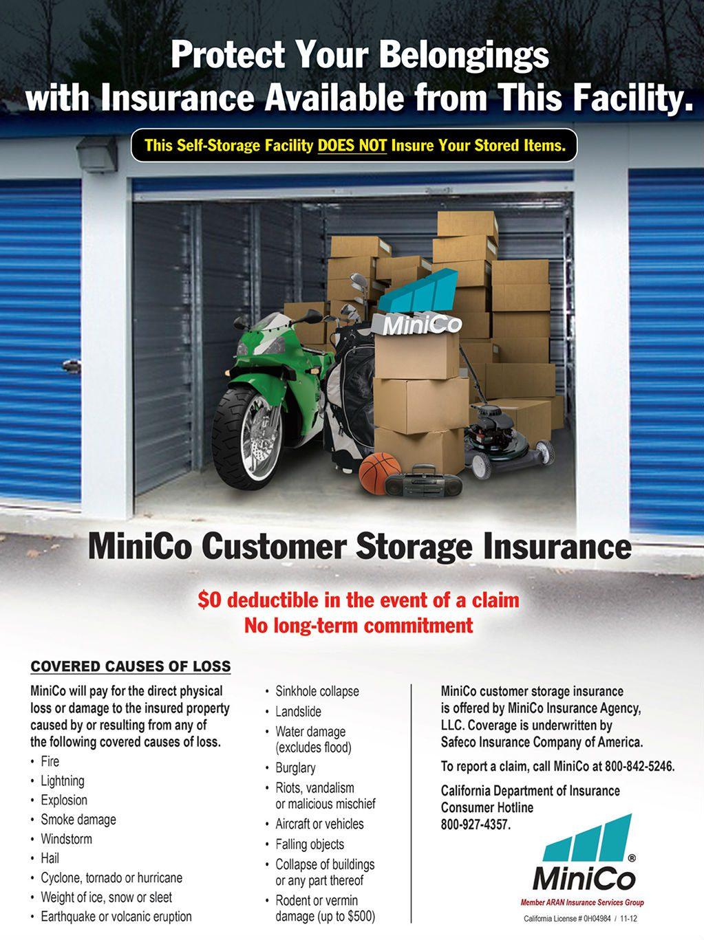 Tenant Insurance | Twin View Storage